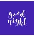 Good night Brush lettering vector image