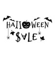 halloween sale concept design text banner vector image vector image