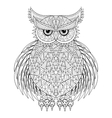hand drawn entangle owl bird totem for adult vector image vector image