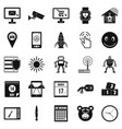 hardware icons set simple style vector image vector image
