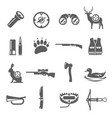 hunting icon set professional sport and wildlife vector image vector image