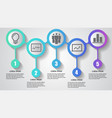 infographics business five steps timeline vector image