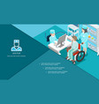 isometric medical center composition vector image