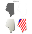 Lackawanna Map Icon Set vector image vector image