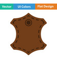leather sign icon vector image vector image