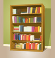 library bookshelf vector image vector image