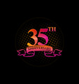 logo 35th anniversary with a circle