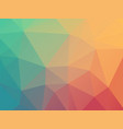 low poly pastel blue red background vector image vector image
