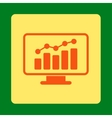 Monitoring Icon vector image vector image