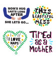 mother day quote and saying set vector image