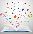 open book with ribbon vector image vector image