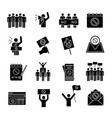 protest action glyph icons set vector image vector image