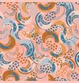pumpkin table hand drawn seamless pattern vector image
