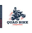 quad bike competition logo design vector image vector image