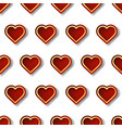 red and gold heart seamless pattern with creative vector image vector image