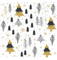 seamless abstract christmas trees pattern vector image