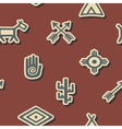 seamless background with native american symbols vector image vector image