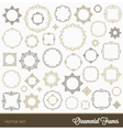 set flourishes ornament frames vector image vector image