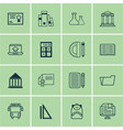 set of 16 school icons includes certificate e vector image vector image