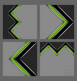set of abstract business patterns vector image vector image