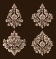 set of damask ornamental elements elegant vector image vector image