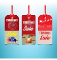 set of three sale Christmas labels vector image vector image