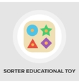 Sorter educational toy flat icon vector image vector image