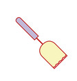 spatula kitchen utensil that used to cook vector image vector image