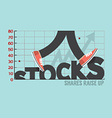 Stocks With Legs Typography Design vector image