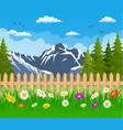 summer garden landscape vector image vector image