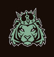 tiger in crown mascot vector image