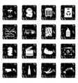 Waste and garbage set icons grunge style vector image vector image