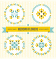 wedding design elements - frames and flowers vector image vector image