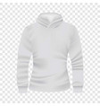 White hoodie front view mockup realistic style