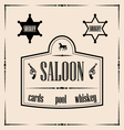Wild west related - saloon sign with vector image