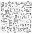 music party - icons set vector image