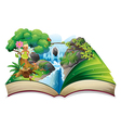 A book with an image of nature with a fairy vector image vector image
