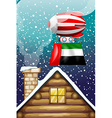 A floating balloon with the UAE flag vector image vector image