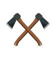 Axe steel isolated weapon icon vector image vector image