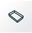 baking sheet icon line symbol premium quality vector image vector image