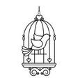 birdcage with cute dove icon vector image