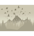 birds in mountains vector image vector image