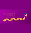 bladder cancer awareness calligraphy poster design vector image