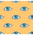 Blue eyes patch seamless pattern vector image