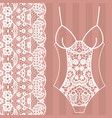 body lingerie lacy beautiful body vector image vector image