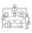 businessman and businesswoman avatar design vector image