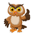 cartoon owl giving thumbs up vector image