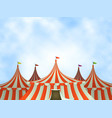 circus tents background vector image