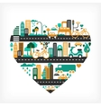 city love vector image vector image