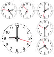 clockface vector image